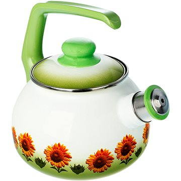 Metalac Smaltovaný čajník 2.5l, dekor slunečnice (D6-20-4N)