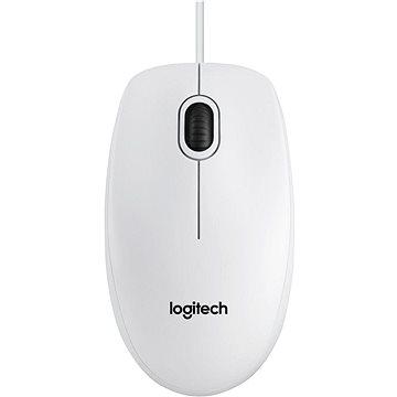 Logitech B100 Optical USB Mouse bílá (910-003360)