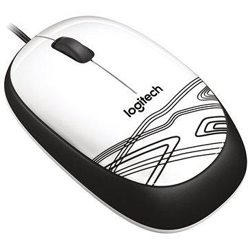 Logitech Mouse M105 bílá (910-002944) + ZDARMA Herní podložka A4tech X7-200MP