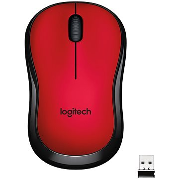 Logitech Wireless Mouse M220 Silent, červená (910-004880) + ZDARMA Herní podložka A4tech X7-200MP