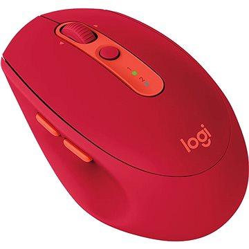 Logitech Wireless Mouse Silent M590 červená (910-005199) + ZDARMA Herní podložka A4tech X7-200MP