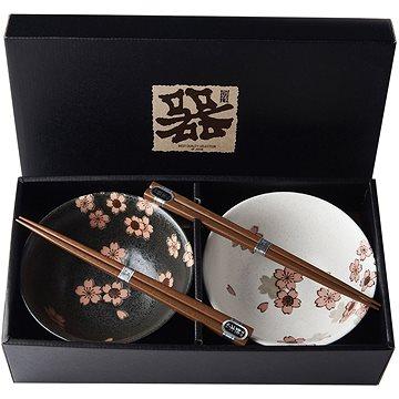 Made In Japan Set misek Cherry Blossom s hůlkami 500 ml 2 ks (C0054)