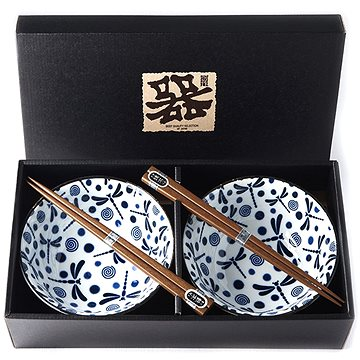 Made In Japan Set misek Blue Dragonfly s hůlkami 500 ml 2 ks (RW0008)