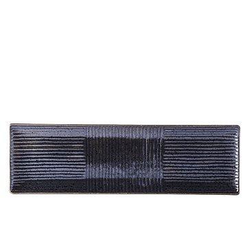 Made In Japan Sushi talíř hranatý, černý Lines 33X10 (C7852)