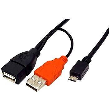 ROLINE USB 2.0 propojovací OTG, 1m, černý (19081009)