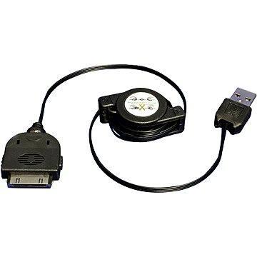 OEM USB kabel Ipod/ Iphone svinovací černý, 0.8m (11929095)