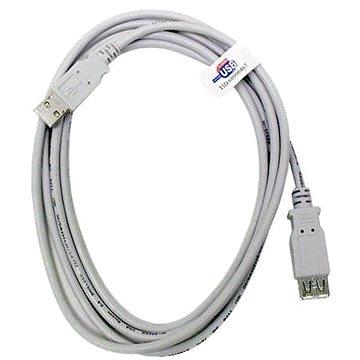 OEM USB 2.0 prodlužovací 5m A-A šedý (11928962)