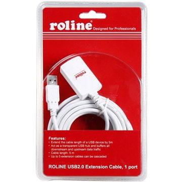 ROLINE USB 2.0 prodlužovací 5m A-A aktivní bílý (7611990179909)