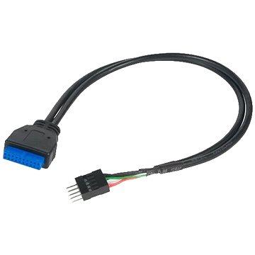 AKASA USB 3.0 (19-pin) na USB 2.0 (9-pin) (AK-CBUB36-30BK)