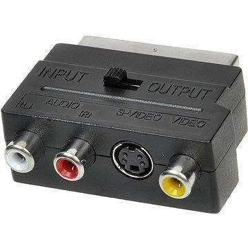OEM scart - 3x cinch + S-video, přepínatelné IN/OUT (11924410)