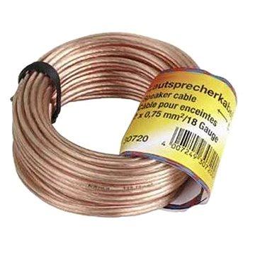 Hama kabel reproduktorový 2x 0.75mm, 10m