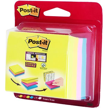 3M Post-it 76x76mm - sada 4ks (1723115)