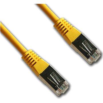 Datacom CAT5E FTP žlutý 0.5m (15805)