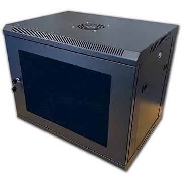 19 RACK jednodílný 6U černý (71061)