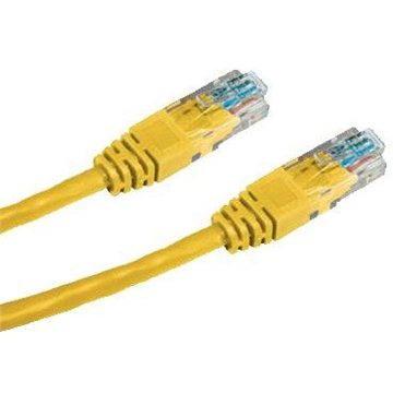 Datacom CAT5E UTP žlutý 10m (1565)