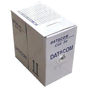 Datacom, licna (lanko), CAT5E, UTP, 305m/box modrý (1157)
