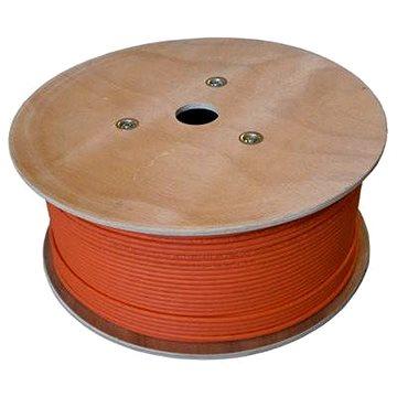 Datacom, drát, CAT7, LSOH, S/FTP, oranžový plášť, 500m/box (1216)
