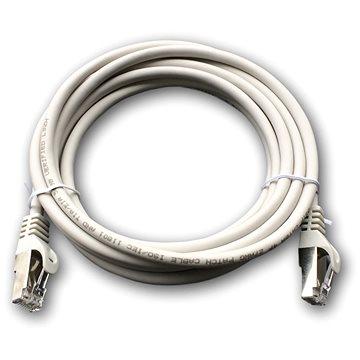 Datacom Patch cord S/FTP CAT6A 3m šedý (1693)