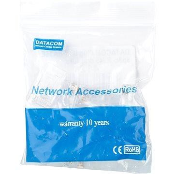 Datacom 10-pack RJ45, CAT5E, UTP, 8p8c, na drát (4121)