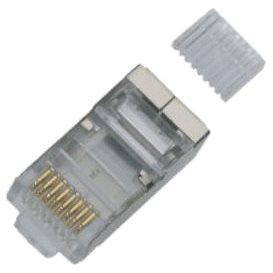 100-pack, Datacom RJ45, CAT6, STP, 8p8c, stíněný, na drát (4135)