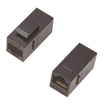 Datacom Panelová spojka UTP CAT5E 2xRJ45 (8p8c) přímá (4241)