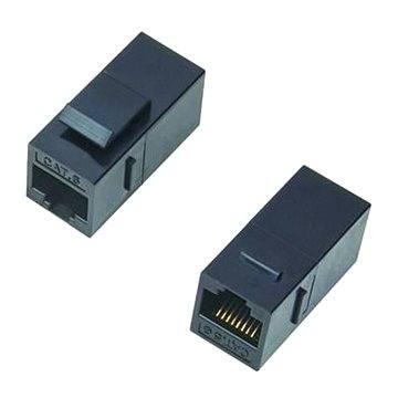 Datacom Panelová spojka UTP CAT6 2xRJ45 (8p8c) přímá (4243)
