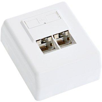Datacom, CAT5E, STP, 2x RJ45, na omítku (2100)