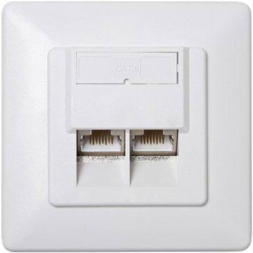 Datacom CAT6, STP, 2x RJ45, pod omítku (2458)