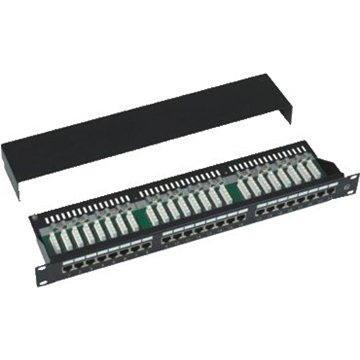 Datacom, 24x RJ45, přímý, CAT5E, STP, černý, 1U (3101)