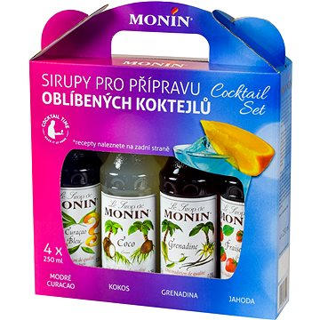 MONIN COCKTAIL BOX 4 x 0,25 l sirup (99920)