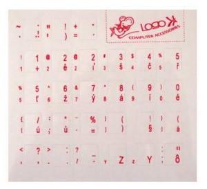 Přelepky na klávesnici, CZ červené (ENNC010M0L)