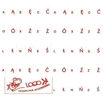 Přelepky na klávesnice, červené, polské (ENNP011M0L)