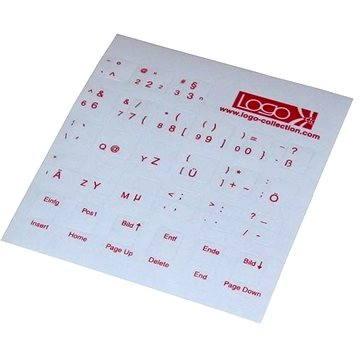 Přelepky na klávesnice, červené, německé (ENNN014M0L)