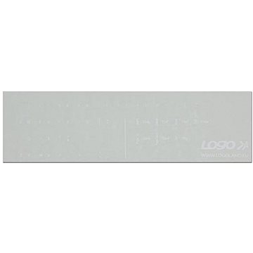 Přelepky na klávesnice, bílé, německé (ENNN014T0L)