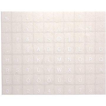 Přelepky na klávesnice, maďarské, bílé