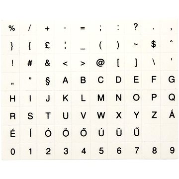 Přelepky na klávesnice, maďarské, černé