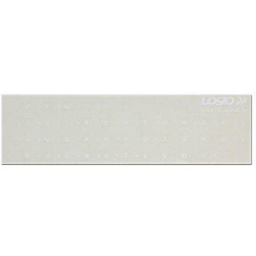 Přelepky na klávesnice, bílé, azbuka (ENNR012T0L)