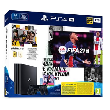 PlayStation 4 Pro 1TB + FIFA 21 + 2x DualShock 4 (PS719835226)