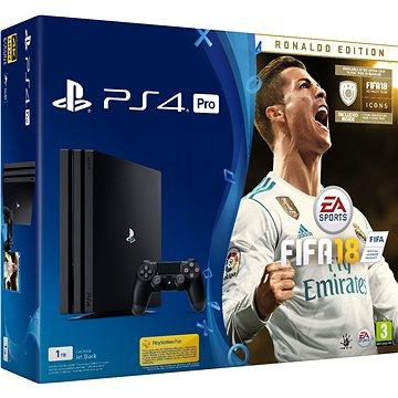 Sony PlayStation 4 Pro 1TB + FIFA 18 Ronaldo Edition (PS719917267)