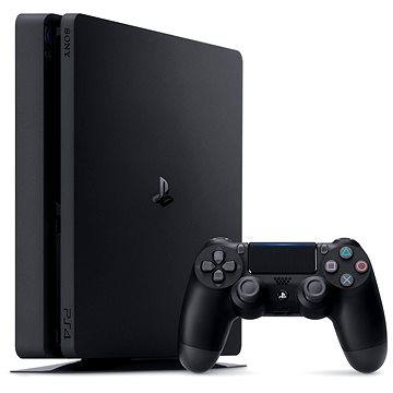 Sony PlayStation 4 - 500 GB Slim (PS719845553) + ZDARMA Bezdrátový ovladač Sony PS4 Dualshock 4 - V2 (Black)