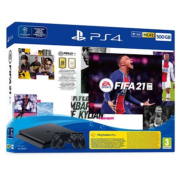 PlayStation 4 Slim 500GB + FIFA 21 + 2x DualShock 4 (PS719831129)