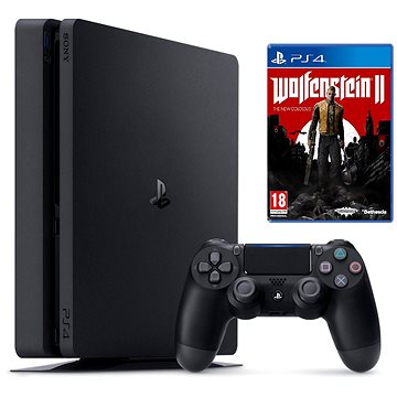PlayStation 4 - 500 GB Slim + Wolfenstein II: The New Colossus + ZDARMA Časopis PlayStation Magazín