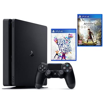 PlayStation 4 Slim 500 GB + Assassins Creed Odyssey + Just Dance 2019