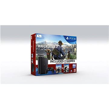 Sony Playstation 4 - 1TB Slim + Watch Dogs 1 + Watch Dogs 2 (PS719890454)