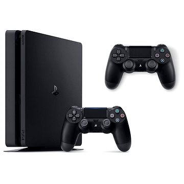 Sony PlayStation 4 - 1TB Slim + DualShock 4 (2x DS4 v balení) (PS719893653) + ZDARMA Hra pro konzoli Horizon: Zero Dawn - PS4