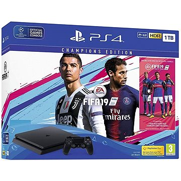 PlayStation 4 1TB Slim + FIFA 19 Champions Edition (PS719752011)