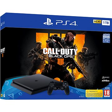 PlayStation 4 Slim 1TB + Call of Duty: Black Ops 4 (PS719758112)