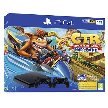 PlayStation 4 Slim 1TB + Crash Team Racing + 2x ovladač (PS719936206)