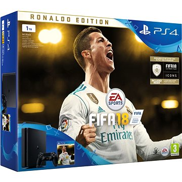 PlayStation 4 1TB Slim + FIFA 18 Ronaldo Edition (PS719916765)
