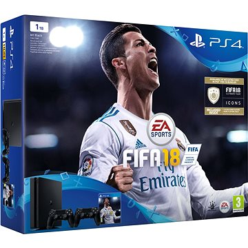 PlayStation 4 1TB Slim + FIFA 18 + extra DualShock 4 (PS719915867) + ZDARMA Časopis PlayStation Magazín